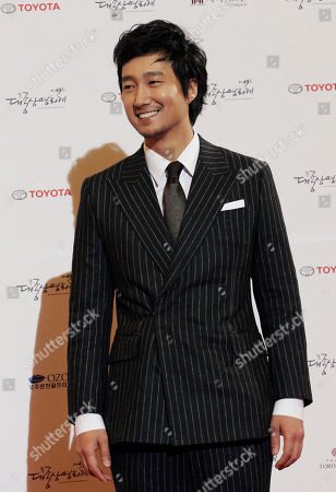 Park Hae-il South Korean actor Park Hae-il poses for a photo call during the Daejong Film Festival in Seoul, South Korea