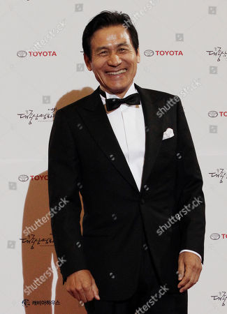 Ahn Sung-ki South Korean Ahn Sung-ki poses for a photo call during the Daejong Film Festival in Seoul, South Korea