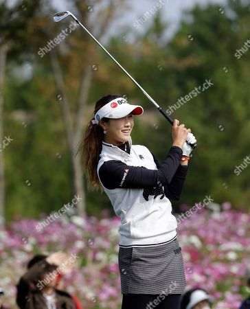 Kim Ha-neul Kim Ha-neul of South Korea watches her shot on the 3th hole during the second round of the LPGA Championship golf tournament at Sky72 Golf Club in Incheon, west of Seoul, South Korea