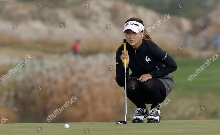 Kim Ha-neul Kim Ha-neul of South Korea lines up a putt on the 7th green during the second round of the LPGA Championship golf tournament at Sky72 Golf Club in Incheon, west of Seoul, South Korea