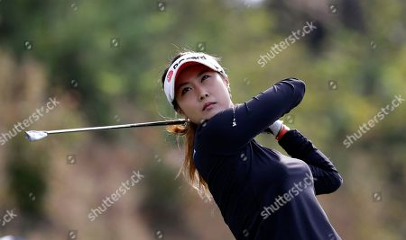 Kim Ha-neul Kim Ha-neul of South Korea watches her shot on the 8th hole during the second round of the LPGA Championship golf tournament at Sky72 Golf Club in Incheon, west of Seoul, South Korea