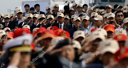 South Korean war veterans salute during the 62nd Incheon Landing Operations Commemoration ceremony in Incheon, South Korea, . Incheon is the coastal city where United Nations Forces led by U.S. General Douglas MacArthur landed in September, 1950 just months after North Korea invaded the South