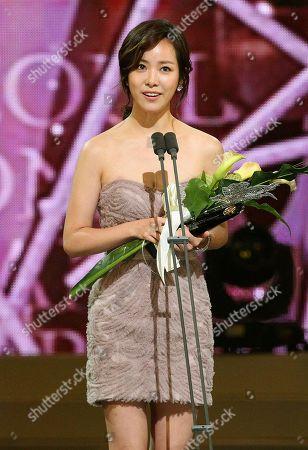 Han Ji-min South Korean actress Han Ji-min speaks after winning the outstanding Korean actor award at the Seoul International Drama Awards in Seoul, South Korea