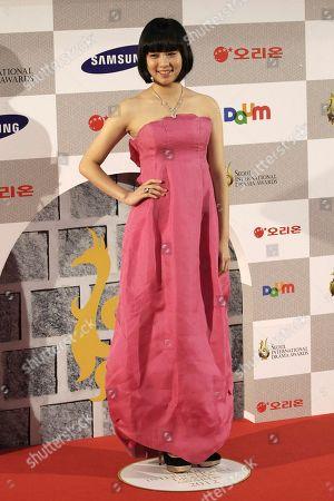 Lim Ji-wang South Korean actress Lim Ju-wang poses during the Seoul International Drama Awards in Seoul, South Korea
