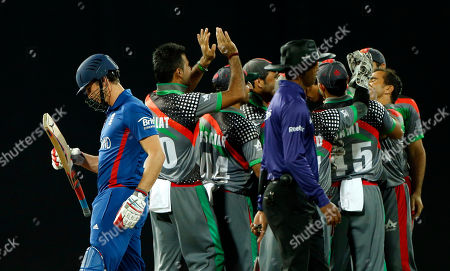 Craig Kieswetter England's batsman Craig Kieswetter, left, leaves the pitch after his dismissal, as members of the Afghanistan team celebrate, during their match in the ICC Twenty20 Cricket World Cup in Colombo, Sri Lanka