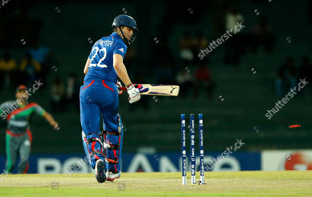 Craig Kieswetter England's batsman Craig Kieswetter looks back at his stumps after being bowled out by Afghanistan's Shapoor Zadran, unseen, during their match in the ICC Twenty20 Cricket World Cup in Colombo, Sri Lanka