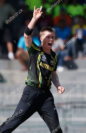 Xavier Doherty Australia's bowler Xavier Doherty celebrates the dismissal of South Africa's batsman Richard Levi, unseen, during a ICC Twenty20 Cricket World Cup Super Eight match between South Africa and Australia in Colombo, Sri Lanka