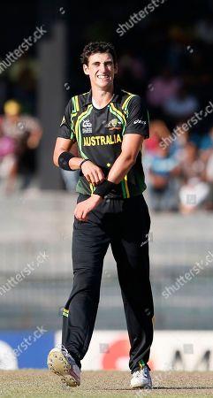 Xavier Doherty Australia's bowler Xavier Doherty celebrates the dismissal of Pakistan's batsman Nasir Jamshed, unseen, during their ICC Twenty20 Cricket World Cup Super Eight match in Colombo, Sri Lanka