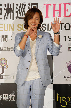 """Jang Keun-suk South Korean singer and actor Jang Keun-suk attends a promotional event for his Asia tour """"Cri Show 2"""" concert, in Taipei, Tawan. Jang will perform in Taipei Saturday, Sept. 1"""
