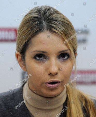 Yevgenia Tymoshenko Yevgenia Tymoshenko, daughter of jailed former Ukrainian prime minister Yulia Tymoshenko, speaks during a media briefing in Kiev, Ukraine,. Yevgenia Tymoshenko delivered a message to voters from Yulia Tymoshenko. Ukraine will hold parliamentary elections on October 28