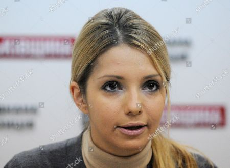 Yevgenia Tymoshenko Yevgenia Tymoshenko, daughter of jailed former Ukrainian prime minister Yulia Tymoshenko, speaks during a briefing in Kiev, Ukraine,. Yevgenia Tymoshenko delivered a message to voters from Yulia Tymoshenko. Ukraine will hold parliamentary elections on October 28