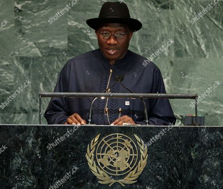 Goodluck Ebele Jonathan Nigeria's President Goodluck Ebele Jonathan addresses the 67th session of the United Nations General Assembly at U.N. headquarters