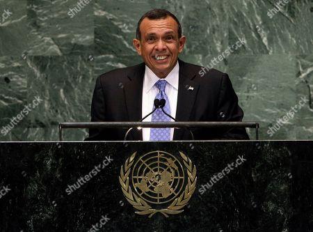 Porfirio Lobo Sosa President of Honduras, Porfirio Lobo Sosa addresses the 67th session of the United Nations General Assembly