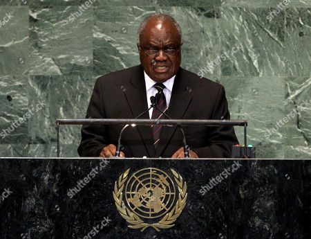 Hifikepunye Pohamba Namibia's President Hifikepunye Pohamba addresses the high level meeting on rule of law in the United Nations General Assembly at U.N. headquarters