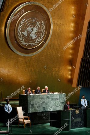 Stock Photo of Michael Chilufya Sata Zambia's President Michael Chilufya Sata addresses the 67th session of the United Nations General Assembly at U.N. headquarters