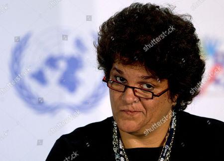 Brazil's Environment Minister Izabella Teixeira attends a press conference at the Rio+20 UN Conference on Sustainable Development in Rio de Janeiro, Brazil