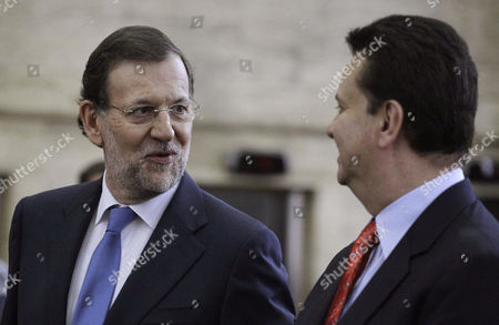Mariano Rajoy, Gilberto Kassab Spain's Prime Minister Mariano Rajoy, left, speaks to Sao Paulo's Mayor Gilberto Kassab in Sao Paulo, Brazil, . Rajoy is on a two-day official visit to Brazil