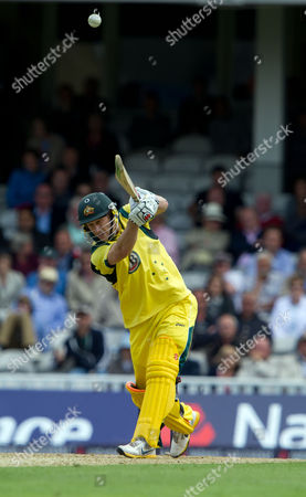 David Hussey Australia's David Hussey hits a ball from England's Jade Dernbach for four runs during their one day international match at the Oval cricket ground, London