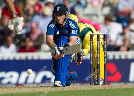 Ian Bell England's Ian Bell hits a ball from Australia's David Hussey during their one day international match at the Oval cricket ground, London