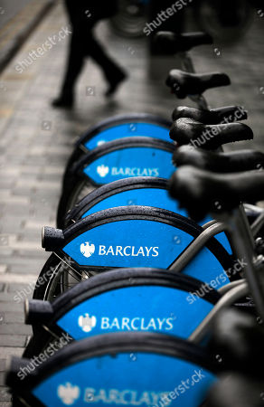 London bikes sponsored by Barclay's bank are seen at a docking station in central London, . The chairman of Barclays bank announced his resignation Monday, accepting responsibility for a rate-fixing scandal and leaving the chief executive to face growing demands that he step down, too. Rather than satisfy calls for accountability at Barclays, the resignation of Chairman Marcus Agius saw politicians step up their calls for CEO Bob Diamond to go as well