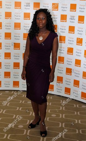 Esi Edugyan Author Esi Edugyan of the 'Half Blood Blues' poses for the photographers, ahead of the announcement of the 2012 Orange for Fiction award in London's Royal Festival Hall
