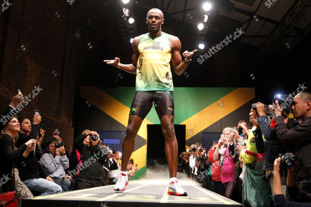 Usain Bolt Jamaica's sprinter Usain Bolt models a Jamaica Olympic kit designed by Cedella Marley, daughter of Bob Marley, during the kit unveiling in London