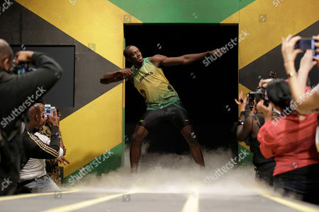 Usain Bolt Jamaican sprinter Usain Bolt models a Jamaica Olympic kit designed by Cedella Marley, daughter of Bob Marley, during the kit unveiling in London