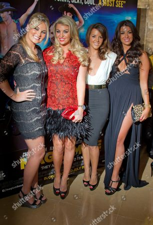 Cara Kilbey, Lauren Goodger,Nicola Goodger, Billi Mucklow From left to right, Cara Kilbey, Lauren Goodger, Nicola Goodger and Billi Mucklow arrive at a special film screening of 'Magic Mike' at the Mayfair Hotel, central London