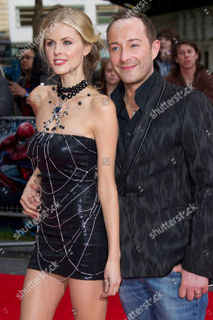 Donna Air, Scott Henshall British actress Donna Air arrives with designer Scott Henshall for the UK premiere of The Amazing Spider-Man at a central London cinema