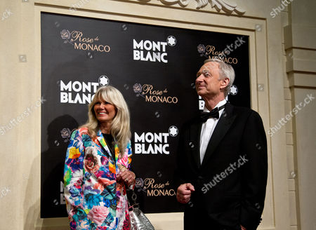 Lutz Bethge, Ingrid Roosen-Trinks Mont Blanc CEO Lutz Bethge, right, chats with Ingrid Roosen-Trinks, director Mont Blanc Cultural Foundation upon arrival at a red carpet of the Mont Blanc's new Princesse Grace de Monaco jewelry collection held inside the Mont Blanc concept store in Beijing, China