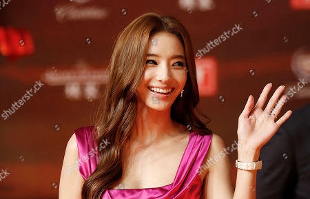 Han Chae-Young South Korean actress Han Chae-Young waves on the red carpet prior to the opening ceremony of the Shanghai International Film Festival at Shanghai Grand Theater in Shanghai. China