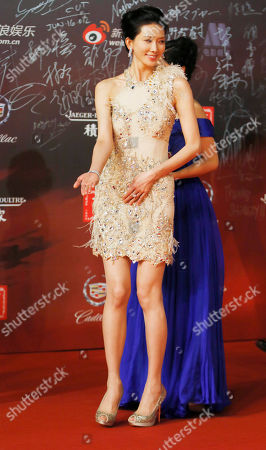 Lin Chiling Taiwanese actress Lin Chiling gestures on the red carpet prior to the opening ceremony of the Shanghai International Film Festival at Shanghai Grand Theater in Shanghai, China