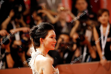 Lin Chiling Taiwanese actress Lin Chiling poses on the red carpet prior to the opening ceremony of the Shanghai International Film Festival at Shanghai Grand Theater in Shanghai, China