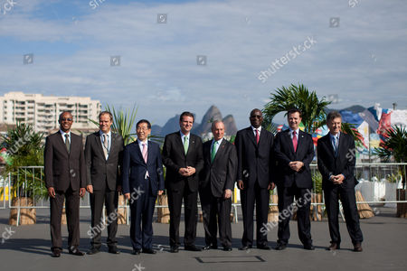 Mayors from left to right, Franklyn Tau of Johannesburg, Ecktar Wuerzner of Heidelberg, Won Soon Park of Seoul, Eduardo Paes of Rio de Janeiro, Michael Bloomberg of New York, Babatunde Fashola of Lagos, Gilberto Kassab of Sao Paulo and Eduardo Macri of Buenos Aires, pose for a photo during the Rio+C40: Megacity Mayors Taking Action on Climate Change, a parallel meeting during the UN Conference on Sustainable Development, or Rio+20, in Rio de Janeiro, Brazil, . While squabbling between rich and poor countries threatens to derail the Earth summit, the world's mayors say they can't afford the luxury of endless, fruitless negotiations and are already taking real action to stave off environmental disaster and preserve natural resources for future generations