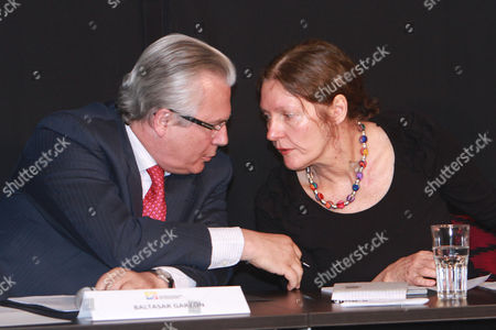 Stock Picture of Julian Assange's attorney, Baltazar Garzón, and the mother of the WikiLeaks founder, Christine Assange, hold a joint news conference in Quito, Ecuador, . Christine Assange is in Ecuador to meet with officials about her son's political asylum request. Ecuadorean officials have said they will not announce a decision until after the London Olympic Games end in mid-August. The 40-year-old Australian has been holed up inside the Ecuadorian Embassy in London since applying for political asylum on June 19