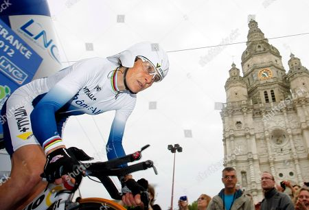 Jeannie Longo French cyclist Jeannie Longo, 53, heads down the ramp as she takes the start of the time trial stage of the French cycling championship in St Amand, northern France