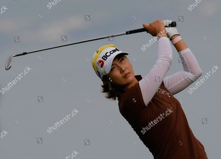 Ha-Neul Kim Ha-Neul Kim of South Korea plays on the first hole during the third round of the Evian Masters women's golf tournament in Evian, eastern France