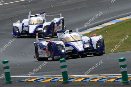 Alexander Wurz The Toyota n° 7 driven by Alexander Wurz of Austria in action ahead of the Toyota n°8 driven by Stephane Sarrazin of France during the 80th 24-hour Le Mans endurance race, in Le Mans, western France