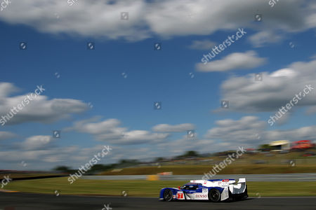 The Toyota Hybrid No 7 driven by Alexander Wurz of Austria, Nicolas Lapierre of France and Kazuki Nakajima of Japan is seen in action during the 80th 24-hour Le Mans endurance race, in Le Mans, western France