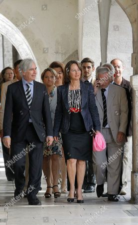 Segolene Royal French former Socialist presidential candidate Segolene Royal, centre, arrives at the polling station for voting at the legislative elections, with Maxime Bono Mayor of La Rochelle, left, in La Rochelle, west of France. Royal is facing a Socialist Party opponent in the second round election, and will determine the makeup of the new parliament