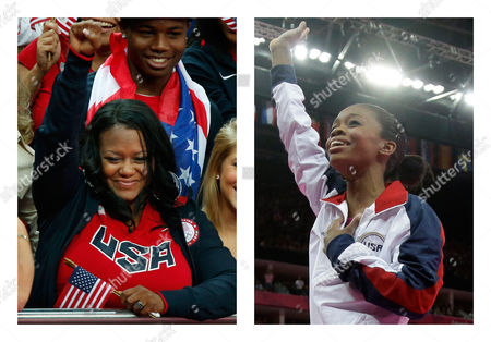 Editorial picture of Gabby Douglas Mom Bankruptcy