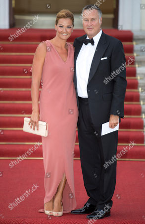 Franziska van Almsick, Juergen B. Harder Former German swimmer Franziska van Almsick, left, and her husband Juergen B. Harder, right, arrive for a dinner for Prince Albert II of Monaco and Princess Charlene of Monaco hosted by German President Joachim Gauck, all not pictured, in Berlin, Germany