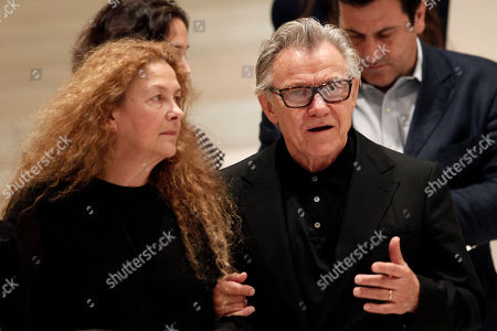 Harvey Keitel, Fivi Oikonomopoulou American actor Harvey Keitel, right, arrives with Fivi Oikonomopoulou, wife of Greek filmmaker Theo Angelopoulos, in Athens, on . Keitel attended a tribute for Angelopoulos who died in an accident on a movie set earlier this year