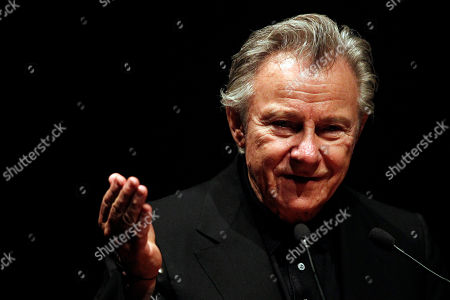 Harvey Keitel American actor Harvey Keitel gives a speech, in Athens, on . Keitel attended a tribute for Greek filmmaker Theo Angelopoulos who died in an accident on a movie set earlier this year