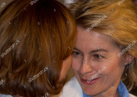 Ursula von der Leyen, Elsa Fornero German Labor Minister Ursula von der Leyen, right, and her Italian counterpart Elsa Fornero talk at the end of a bilateral meeting between Italian Premier Mario Monti and German Chancellor Angela Merkel at Villa Madama in Rome, . It was their first encounter since European leaders in Brussels last week agreed to use the continent's bailout fund to funnel money directly to struggling banks and let countries following budget rules apply for financial aid without stringent conditions attached
