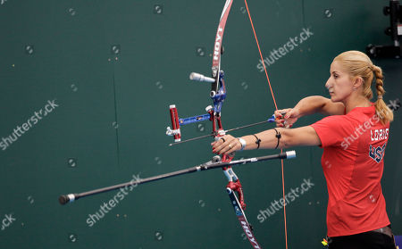 Khatuna Lorig U.S. Olympic archer Khatuna Lorig trains at the 2012 Summer Olympics, in London. Archery competition at the London Olympics begins July 27