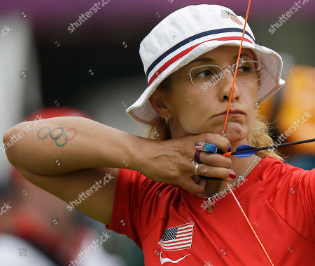 Khatuna Lorig United State's Khatuna Lorig aims for the target during an individual ranking round at the 2012 Summer Olympics, in London