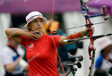 Khatuna Lorig United State's Khatuna Lorig releases her arrow during an individual ranking round at the 2012 Summer Olympics, in London
