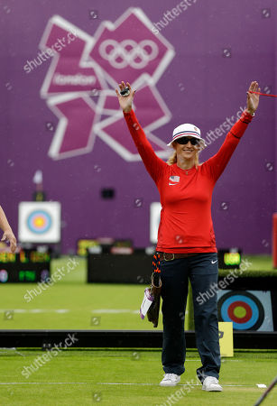 Khatuna Lorig United States' Khatuna Lorig salutes the crowd during an elimination round of the individual archery competition at the 2012 Summer Olympics, in London