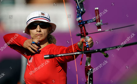 Khatuna Lorig United States' Khatuna Lorig shoots during the individual archery competition at the 2012 Summer Olympics, in London